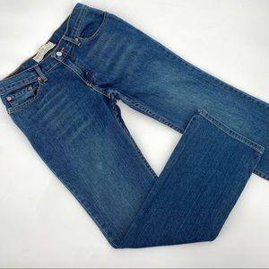 Levis 518 Superlow Bootcut Jeans 7M Jrs Blue Denim